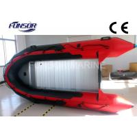 Buy cheap Red PVC Foldable Inflatable Boat Aluminum Floor Inflatable Boats CE / ISO from wholesalers