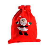 Buy cheap wool drawstring bag merry christmas gift bag from wholesalers
