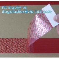 Buy cheap Warranty open void sticker security seal label tamper proof stickers,transparent warranty void seal labels bagplastics from wholesalers
