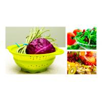 Buy cheap Colorful Folding 100% Eco-friendly fruit / vegetable silicone fruit basket from wholesalers