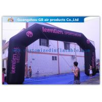 Buy cheap Durable Black Inflatable Arch , 26 Feet Inflatable Entrance Arch For Advertising product