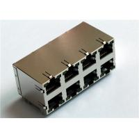 Buy cheap 2x4 Port 6P6C Stacked Connector N3JD4-035-02 Shielded w/LED from wholesalers