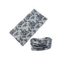 Grey Travel UV Buff Headwear 100% Microfiber Polyester 25*50 CM
