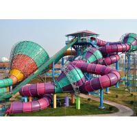Crazy Water Slides Water Park Equipment 2 - 6 Seater Round Tube Raft Vehicle