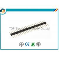 Buy cheap Black Terminal Block Connectors Single Row Pin Header With 2.54mm Pitch product