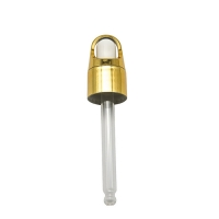 Buy cheap Glass Pipette Gold Anodized Aluminum 20 410 Cosmetic Dropper from wholesalers