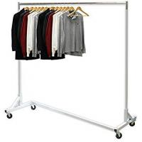 Buy cheap Industrial Heavy-Duty Metal Clothing Display Rack Free Standing Z Shaped Base from wholesalers