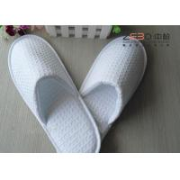 Customized White Waffle Slippers , Hotel Closed Toe Slippers DS-016