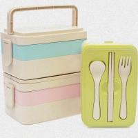 Buy cheap 3 Layers Wheat Straw Kids Lunch Box , Portable Insulated Lunch Boxes For Adults from wholesalers