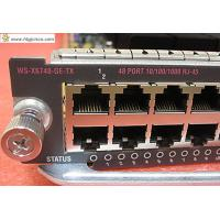 Buy cheap Cisco WS-X6748-GE-TX 48-Port 10/100/1000 Catalyst Module RJ-45 from wholesalers
