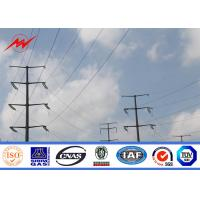 Buy cheap Hot Dip Galvanized Steel Utility Pole For Electrical Distribution , Metal Utility Poles from wholesalers