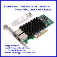 Buy cheap 10Gbe 2xRJ45 Gigabit Ethernet PCIe x8 Server Adapter, X540 Server Adapter from wholesalers