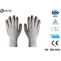 Buy cheap Elastic Seamless Knit Industrial Safety Hand Gloves 3 Gauge HPPE Liner PU Coated product