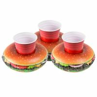Buy cheap PVC Cheeseburger Party Tube Inflatable Drink Holder Giant Size Hamburger Pool Float from wholesalers