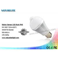 Buy cheap Motion Sensor 6W  Led Light Bulb IP45 Epistar 500 - 640lm 130 Degree from wholesalers