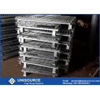 Buy cheap Zinc Coated Collapsible Pallet Cages , Stackable Metal Wire Cage With Wheels from wholesalers