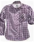 Buy cheap Personalized Breathable kids cotton plaid shirt, navy plaid shirt, kids summer clothes from wholesalers