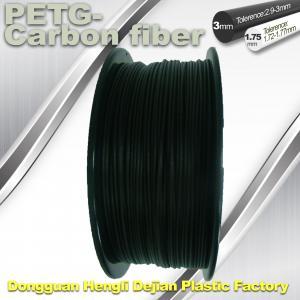 Buy cheap High Strength Filament 3D Printer Filament 1.75mm PETG - Carbon Fiber Black Filament product
