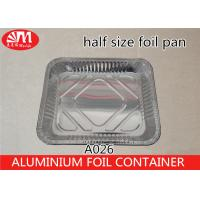 Buy cheap Half Size Disposable Cooking Trays , 3400ml Volume Aluminum Pie Pans With Lids from wholesalers