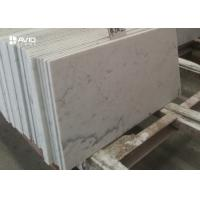 Buy cheap Customized 10mm Carrara White Polished Marble Floor Tiles Heat Resistance from wholesalers