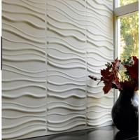 Buy cheap Wave Paintable Waterproof  Vinyl Coated 3d Wall Board  for Backgrond Wall decoration product