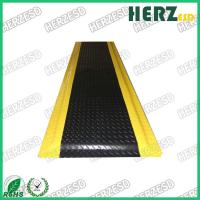 Buy cheap Yellow And Black ESD Rubber Mat With PVC / EPDM Foam / Rubber Material from wholesalers