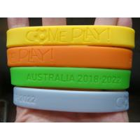 Buy cheap Custom deboss or emboss silicone wristband,Bracelets,Available custom Silicone bracelets from wholesalers