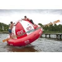 Buy cheap Diameter 4m Customized Red Inflatable Water Sport For Amusement Park from wholesalers