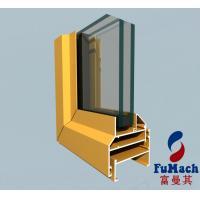 6063 Extrusion Window Aluminum Profile For Sliding Wardrobe DoorsThermally Improved