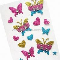 Buy cheap Flash glitter tattoo stickers with non-toxic glue from wholesalers