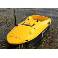 Yellow rc fishing bait boat devc 113 remote range 350m for Rc fishing boats for sale