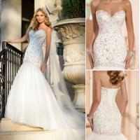Buy cheap Ladies Sweetheart Neckline Polyester Wedding Dresses with cathedral train, white LXYWQ-1689 from wholesalers