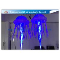 Buy cheap Attactive Inflatable Lighting Decoration / Blue Light Up Jellyfish product