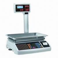 Buy cheap Electronic Barcode Label Scale with 70 Hot-keys and Barcode Printing from wholesalers