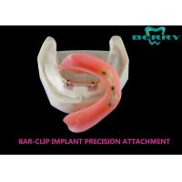 Buy cheap Bar And Clip / Sleeve Dental Attachments No Discolor Excellent Biocompatibility from wholesalers