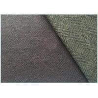 Various Colors Stretch Wool Fabric With Herringbone 650 Gram Per Meter