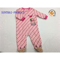 Buy cheap Long Sleeve Baby Pram Suit Knitted Microfleece Zipper Closure Coverall from wholesalers