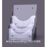 Buy cheap Acrylic wall mount document holder, A5 size acrylic brochure holder from wholesalers