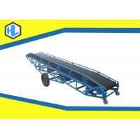 Buy cheap Warehouses / Bulk Cargo Sites Loading Conveyor Belts , Stainless Steel Rubber Belt Conveyor from wholesalers