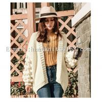 Buy cheap OEM Custom Ladies' Hand knit Cardigan, Hand Knitted Sweater,  Fashion Girls Cardigan Factory Manufacturer Supplier from wholesalers