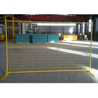 Buy cheap Yellow Canada Temporary Fencing , Welded Steel Wire Mesh For Exhibitions from wholesalers