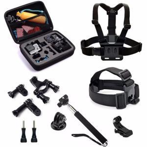 Buy cheap 9 In 1 Go Pro Storage Bag Chest Strap Bicycle Bracket Kit Monopod For GoPro SJCAM SJ4000 SJ5000 Xiaomi Yi 4K product