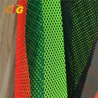 Buy cheap Yellow / Orange / Red 100% Polyester Mesh Fabric For Reflective Safety Vests product