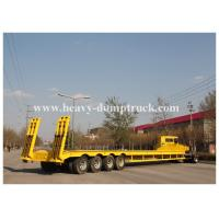 Buy cheap Best Quality 4 axles 100 tons Low bed Truck Trailer for Crane Transportation from wholesalers