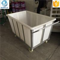 Buy cheap 400L  Rotomolded 400litre commercial bulk material industrial trolley cart trucks with wheels for transfer from wholesalers