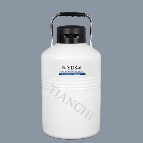 Quality wholesale TianChi 6L aluminum cryogenic liquid nitrogen tank 6 liter semen container price in RO for sale
