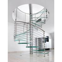 Buy cheap Excellent Design Glass Spiral Staircase with Stainless Steel Handrail from wholesalers