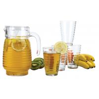 Buy cheap 5 pieces glass decanter&tumbler set ,1.3L with 4 13oz  tumbler product