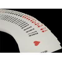 Buy cheap Linen Finish Casino Playing Cards Black Core Paper Material with UV Sign from wholesalers