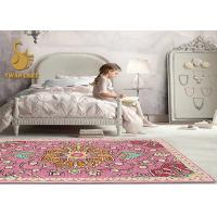 Buy cheap High Density 100% Polyester Custom Area Rugs With Anti Slip Pvc Dots Backing from wholesalers